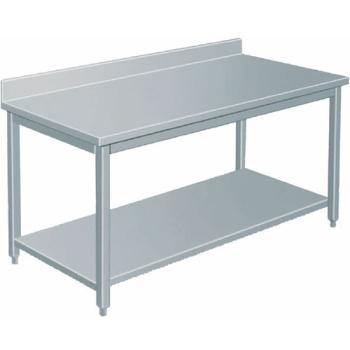 TABLE INOX PROFONDEUR 700 AVEC DOSSERET