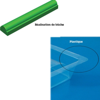 GOUTTIERE A BUCHE PLASTIQUE MODELE RONDE BASE RECTANGLE