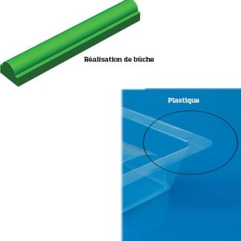 GOUTTIERE A BUCHE PLASTIQUE MODELE RONDE BASE RECTANGLE