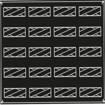 PLAQUE 20 BANDES TWIST