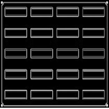 PLAQUE 20 BANDES VRILLEES
