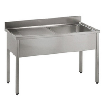 PLONGE INOX NON DEMONTABLE.
