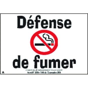 """PANCARTE """"DEFENSE DE FUMER"""""""