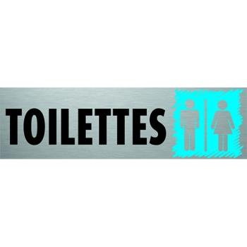 PLAQUE PVC ALU - ''TOILETTES''