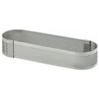 OBLONG INOX PERFORE - Hauteur 35 mm