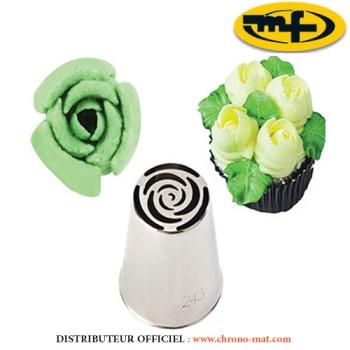 DOUILLE INOX - Spécial décor fleur