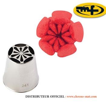 DOUILLE INOX - Spécial décor fleurs