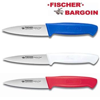 ASSORTIMENT 3 COUTEAUX OFFICE - 100 mm - Bleu, blanc, rouge