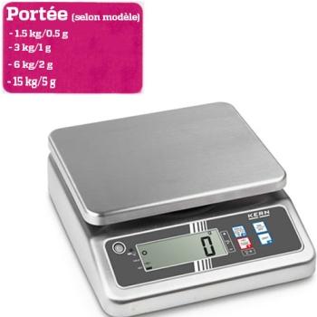 BALANCE  DE TABLE - Portée maximale 1.5 à 15 kg selon modèle
