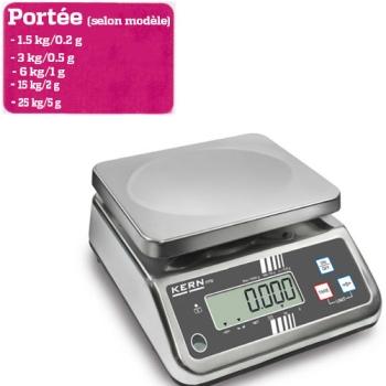 BALANCE  DE TABLE - Portée maximale 1.5 à 25 kg  - Lecture 0.2 à 5g selon modèle