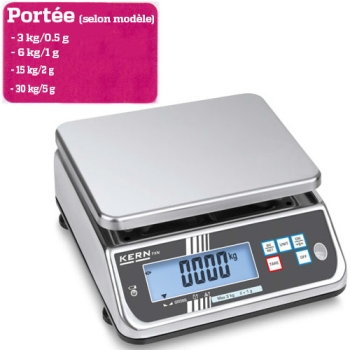 BALANCE  DE TABLE - Portée maximale 3 à 30 kg  - Lecture 0.5 à 5g selon modèle