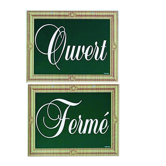 "PANCARTE ""OUVERT""  ""FERME"""